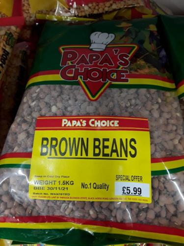 Beans - Brown Beans - PAPAS CHOICE