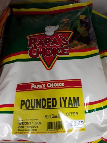 Yam - Pounded Yam - POAPS CHOICE